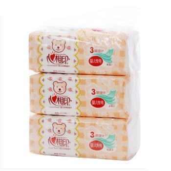 心相印 婴儿专用纸面巾 120抽*3层 *3包 共5提 15包