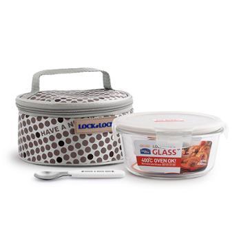 乐扣乐扣 耐热玻璃保鲜盒提袋组合 LLG904FU