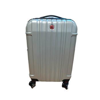 威戈Wenger瑞士军刀20寸万向轮行李箱拉丝银SAX526117107057