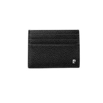 皮尔卡丹 牛头层皮革男式票夹 黑色 JR9P515035-55A
