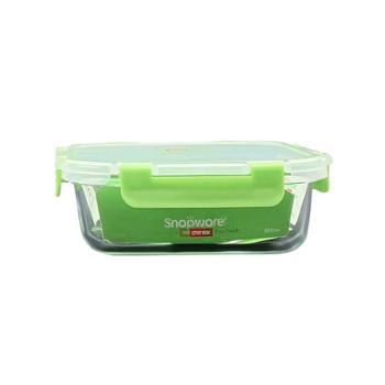 康宁 耐高温耐酸碱智洁扣玻璃保鲜盒长方形 600ML SN-EF600RC/CN