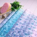 动动手方形PVC带吸盘浴室防滑垫按摩垫洗澡防滑垫 54*54cm