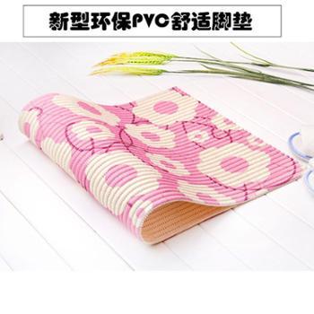 动动手新型清新PVC发泡地垫浴室防滑垫厨房地垫漫步垫客厅舒适脚垫