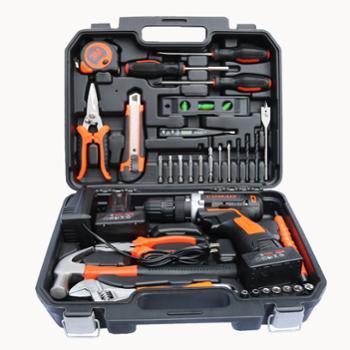 车之秀品工具箱电钻套组木工维修电工35件套25V电钻款