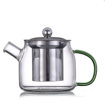 臻琦玻璃茶壶办公室煮茶壶花茶壶带滤网