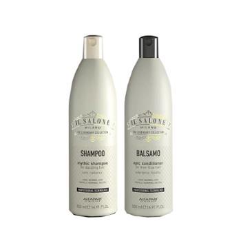 欧贝芙沙龙臻选顺柔蛋白洗发水+护发素女士滋润无硅油改善毛躁