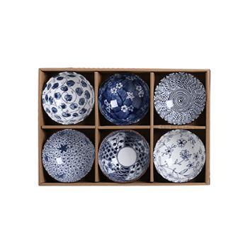 福升缘日式六碗套装碗礼盒套装