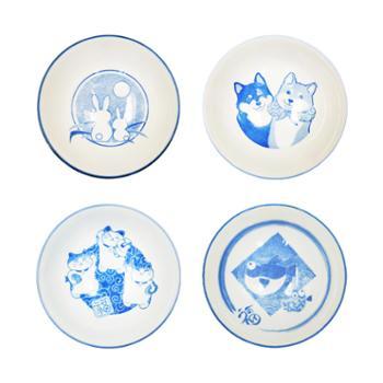 小物家园日本进口动物饭碗(单个)