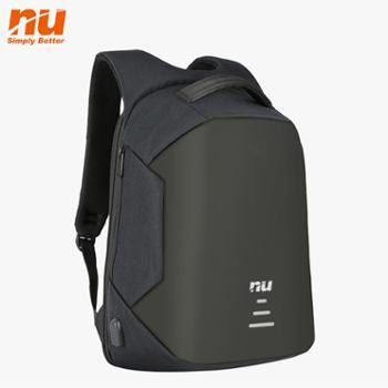 NU防割背包定制休闲电脑包可USB充电(B款)