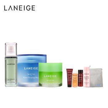 兰芝/Laneige雪纱隔离+睡眠面膜+保湿唇膜三件套
