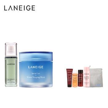 兰芝/Laneige睡眠面膜+雪纱丝柔隔离霜-new2件套装100ml+30ml