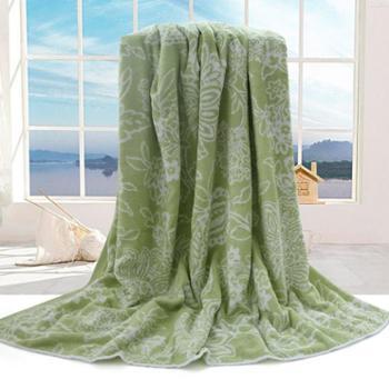 Lifeco兰亭序毛巾被绿色LC-1615M-1