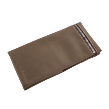 尼诺里拉NINORIVA咖啡色长款牛皮革女士钱夹NR60029-4