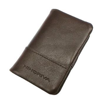 尼诺里拉NINORIVA咖色牛皮革钥匙包NR60233-2