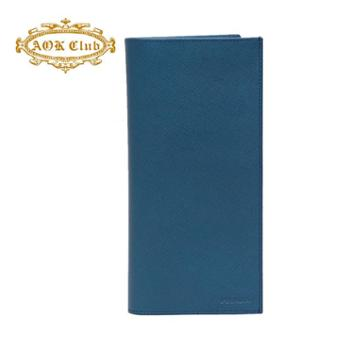 PRADA普拉达男式蓝色牛皮长款钱夹2MV836PN9F0215