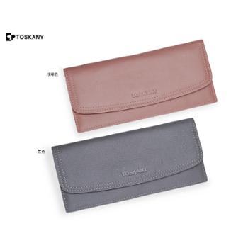 托斯卡尼TOSKANY真皮休闲手包银包双色可选(灰色、浅啡可选)