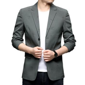 布朗华菲/BrownFairwhale男士薄款休闲西服韩版潮流小西装外套