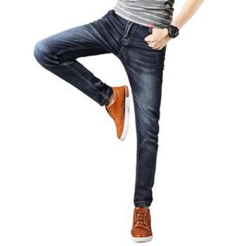 布朗华菲/BrownFairwhale男士牛仔裤四面弹长裤修身小脚裤002