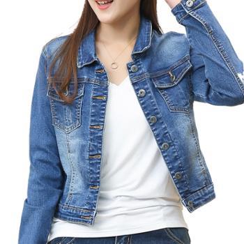 蝶蔓尔女士牛仔外套短款修身弹力韩版牛仔衣