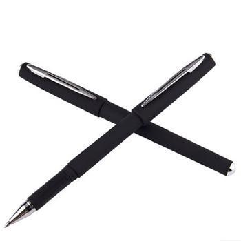 宝克中性笔 PC1888 中性笔 黑色签字笔水笔 0.7mm 办公学习必备用 单盒