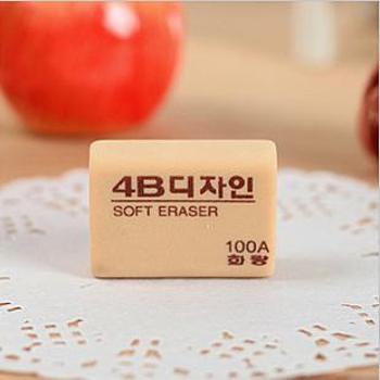 韩国文具花郎4B 100A美术专用橡皮中号高级橡皮擦 学生橡皮擦 绘图橡皮擦 单个