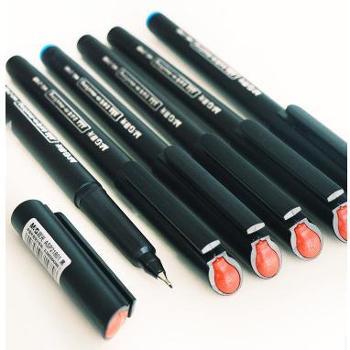 晨光MG-2180纤维笔头微墨水笔黑色签字笔0.5中性笔 2元/支