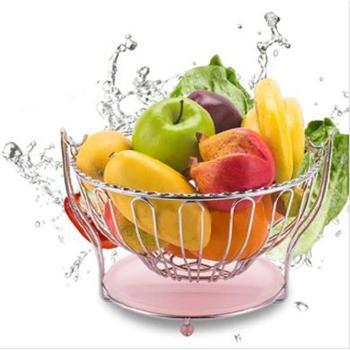 宜周 欧式时尚摇摆水果篮 沥水果篮 创意时尚置物架