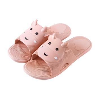瑶琳小萌牛浴室拖鞋卡通防滑凉拖鞋