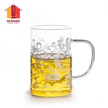 sohome 耐热玻璃玛莎杯 两只装220ml