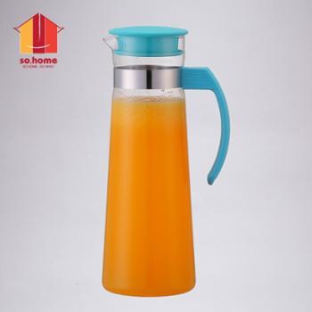 sohome 玻璃冷水壶 耐热玻璃凉水壶开水瓶水杯茶壶果汁壶水具