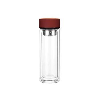 sohome高硼硅玻璃双层泡茶杯便携水杯耐热过滤茶杯320ml