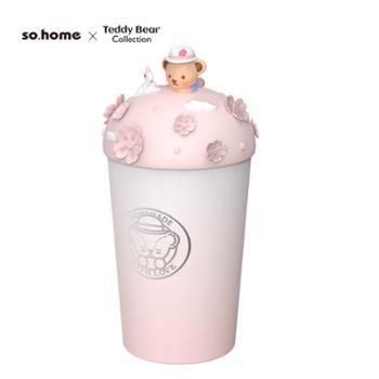 sohome泰迪珍藏珐琅内胆不锈钢双层咖啡杯