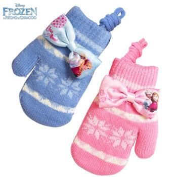 迪士尼冰雪奇缘带挂绳保暖儿童手套6DS008S