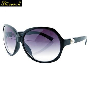 砾石(Thiseson)5141珍珠款女士偏光太阳镜潮时尚渐变欧美眼镜开车旅游墨镜