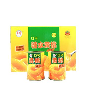 多国韩文黄桃罐头425g*12罐