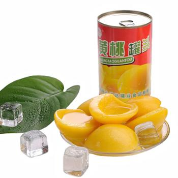 多国红罐黄桃罐头425g*5罐