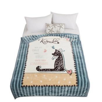 雅迪娜/ADINOR秋冬加厚单人毛毯学生寝室可用150*200