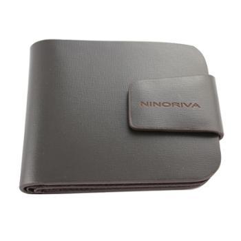 尼诺里拉NINORIVA 短款牛皮革男士钱夹 NR60059-3