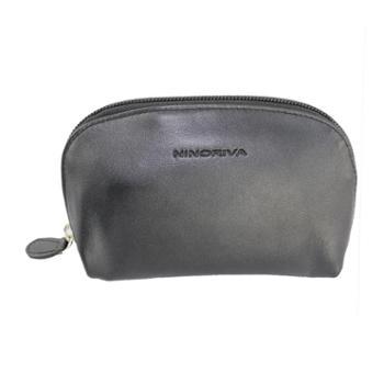 尼诺里拉NINORIVA 黑色牛皮革女士零钱包 NR60312-2