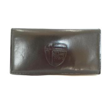 尼诺里拉NINORIVA黑色男士牛皮革长款钱夹NR60255-5