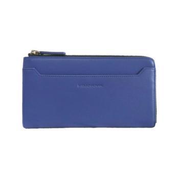 NINORIVA 尼诺里拉 蓝色牛皮革长款钱夹 NR60338-2