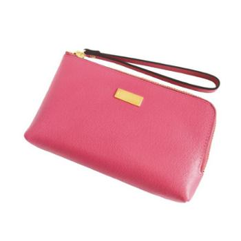 NINORIVA 尼诺里拉 桃红色牛皮革女士手挽零钱包 NR60339-3