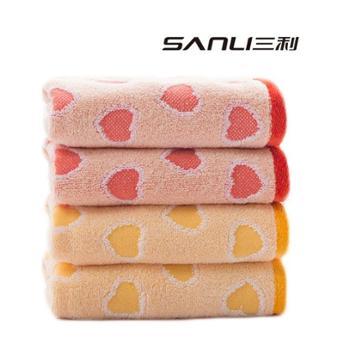 三利爱心满满纯棉童巾两条装7225-2
