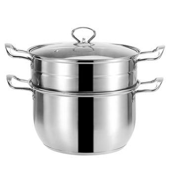 蒸锅加厚不锈钢锅家用小汤锅双耳煮锅