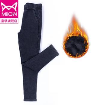 猫人女童打底裤外穿洋气一体加绒加厚款裤子粘胶纤维(粘纤)75.3%