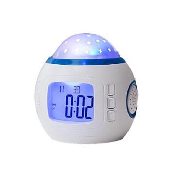 万火星空投影小闹钟电子触摸学生卧室床头儿童卡通可爱多功能时钟