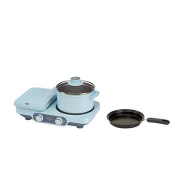 东菱烤面包机多功能早餐机多士炉(晴空蓝)DL-3452
