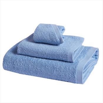 富安娜/FUANNA 纯爱素色纯棉毛方浴三件套 蓝色