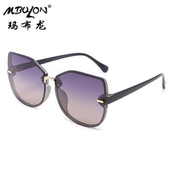 玛布龙女士金属太阳眼镜个性圆框时尚百搭遮阳墨镜3227