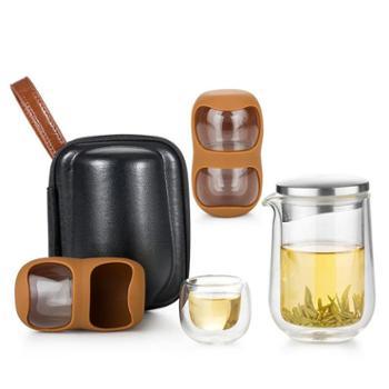 谁美旅行套装便携功夫茶具套装整套快客茶杯简易旅行带小杯sm